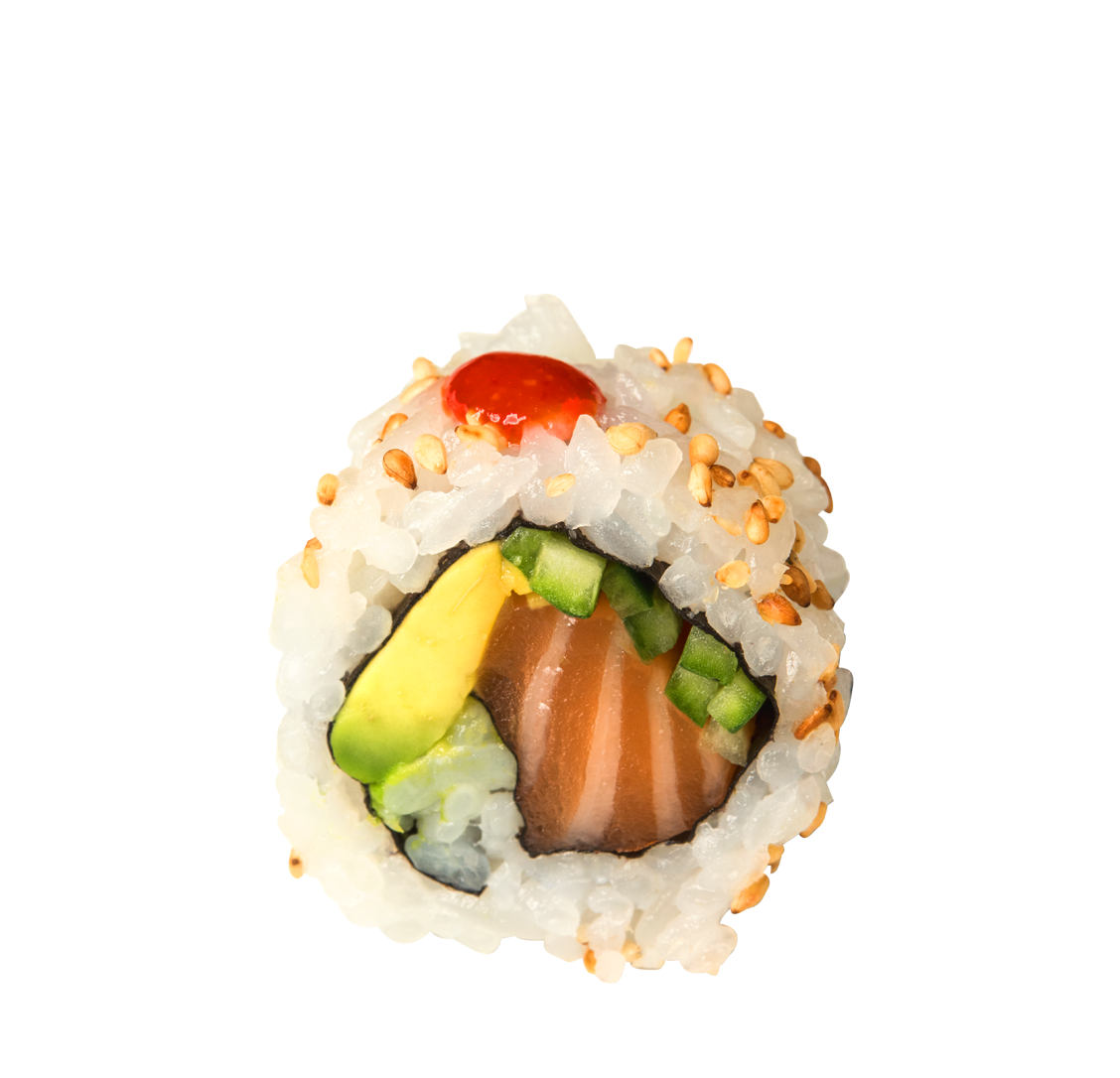 Lachs, Gurke, Avocado, Chili title=Hot Rod </br>8,50 €