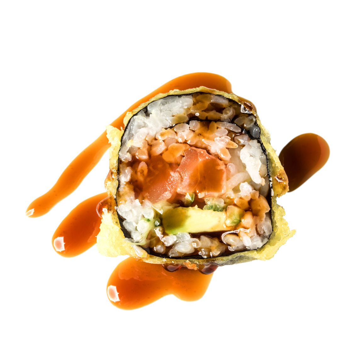 Lachs, Gurke, Avocado title=Tempura Big Roll<br/>9,00 €