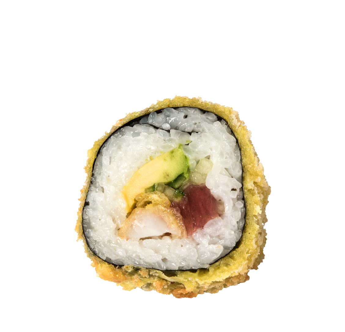 Gurke, Avocado, Garnelen Tempura, Thunfisch title=Tuna Big Roll<br/>12,50 €
